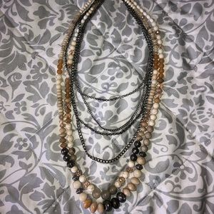 Beaded western style necklace
